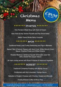 Peterbrough 2019 Christmas menus
