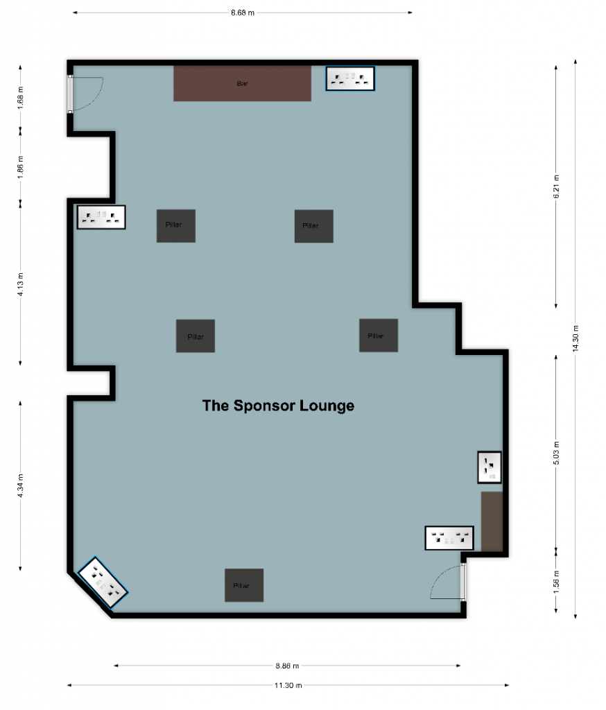 the sponsor lounge room hire